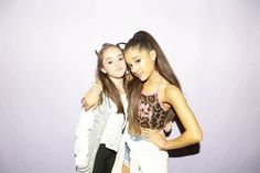 Ariana with a fan