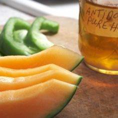 Melon Pepper Salad with Honey. Melon Pepper Salad with Honey - a unique and refreshing cantaloupe salad garnished with parsley and balsamic vinegar #healthy #salad #recipes