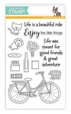 Simon Says Clear Stamps BEAUTIFUL RIDE SSS101604 My Favorite zoom image