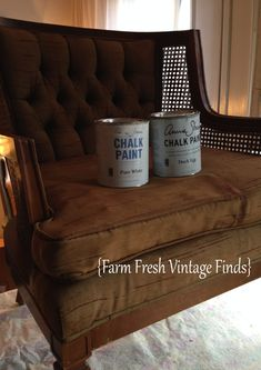 How to Paint Fabric with Annie Sloan Paint - Farm Fresh Vintage Finds