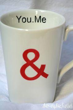 love mug made with Sharpies