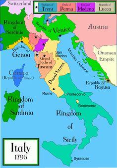 Italy 1796 Historical Maps    #TuscanyAgriturismoGiratola