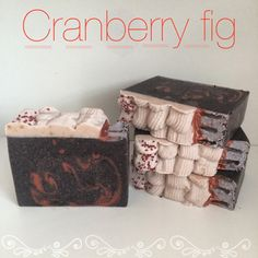 cranberry fig soap   vegan soap handmade soap by willowandhoney
