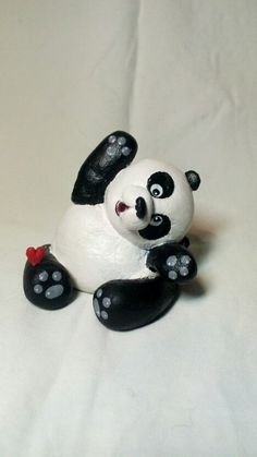 My little panda. Saltdough. Polymer clay.