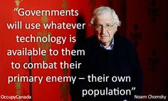 Governments will use whatever #technology is available to them to compact their primary enemy ~ their own population.