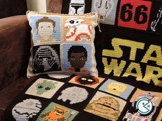 star wars crochet cushion pattern