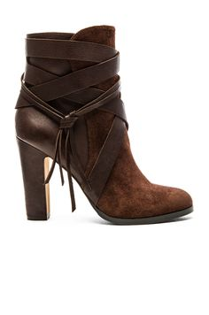 Women's Fashion High Heels : Vince Camuto Charisa Bootie in Cordovan & Mud Cake High Heel Boots, Heeled Boots, High Heels, Ankle Booties, Bootie Boots, Shoe Boots, Cute Shoes Boots, Ugg Boots, Sheepskin Boots