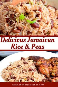 Jamaican Rice And Beans, Jamaican Dishes, Jamaican Recipes, Easy Jamaican Rice And Peas Recipe, Pea Recipes, Vegetarian Recipes, Cooking Recipes, Healthy Recipes, Carribean Food