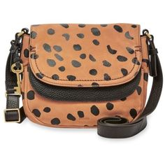 Fossil Cheetah Peyton Double Flap Crossbody ($188) ❤ liked on Polyvore featuring bags, handbags, shoulder bags, cheetah, red purse, red handbags, ipad shoulder bag, fossil handbags and mini purse