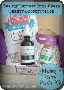 Beauty Heroes Luxury Green Beauty Subscription Unboxing and Review: March, 2016 featuring SkinOwl