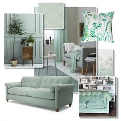 Interior Inspiration - Mouthwatering mint is soft and subtle with a hint of freshness. Choose furniture in shades of mint aqua and seafoam for a lounge that's elegant and uplifting. Mint Furniture, Living Room Furniture, Outdoor Furniture Sets, Modern Interior, Interior Styling, Interior Design, Mint Living Rooms, Elegant Sofa, Traditional Sofa