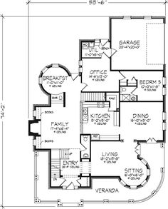 Old-Fashioned Farmhouse Floor Plans | Craftsman House Plan First Floor - 072D-0995 | House Plans and More