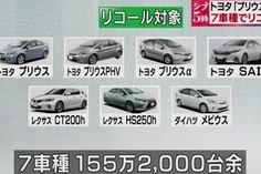 Toyota fará um mega recall por problemas no tanque de combustível 1,5 milhões de carros sujeitos ao recall, produzidos entre março de 2009 e fevereiro de 2015.
