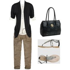 Simple, but I love black and khaki together!
