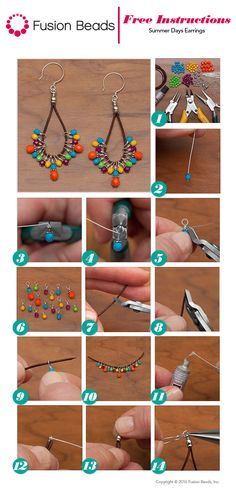 Use the super colorful Happy Fire Polished beads to make a trendy pair of DIY leather cord earrings just in time for summer! I Love Jewelry, Wire Jewelry, Jewelry Crafts, Beaded Jewelry, Jewelery, Handmade Jewelry, Jewelry Design, Jewelry Making, Jewellery Box