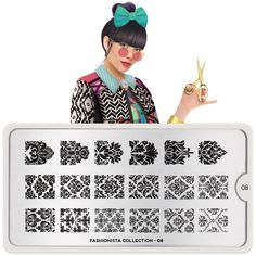 MoYou-London Nail Art Image Stamping Plate Fashionista Collection 05 US Stock Moyou Stamping, Nail Stamping Plates, Nail Art Designs Images, London Nails, Image Plate, Nail Plate, Beauty Kit, Plate Design, Printing On Fabric