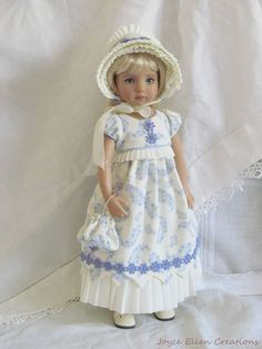 "13"" Effner Little Darling BJD fashion periwinkle Regency OOAK handmade by JEC #ClothingAccessories. Ends 3/15/15. SOLD for $100.00"