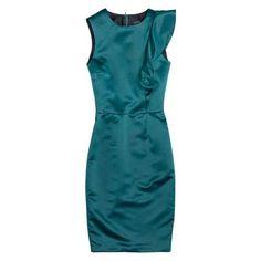 Teal Dress ❤ liked on Polyvore