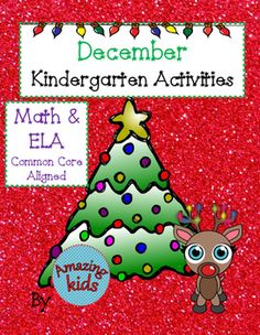 December  Primary Activities are designed to help students learn their basic skills in Math and Language Arts.   The skills are aligned to the Common Core.This bundle includes many color versions of the black and white pages.  The color versions are very helpful for kids with special needs.Tasks can be for individual or small group work.Directory:Roll and CoverRoll, Add & ColorColor by Numbers0-5 Addition5-10 AdditionFill in the Ten FrameHow Many in the Ten FrameThe Reindeer Who Was Late...