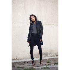 Produkty :: ŽENY :: Oblečenie :: Bundy a kabáty :: Bundy :: Bombery :: Bunda Sixth June Long Bomber Jacket Black Veľkosť: S - Produkty Long Bomber, Normcore, Street Style, Outfit, Fashion, Outfits, Moda, Urban Style, Fashion Styles