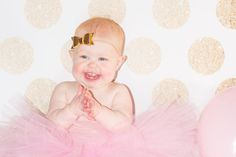 XO Kerry | Pink and Gold Cake Smash/First Birthday Photo Session