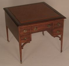 Leather Top Writing Desk by Rohit's