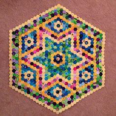 """1/4"""" hexagons, over 2,000"""