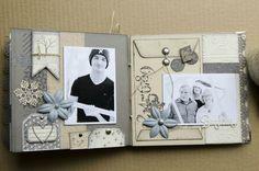 Album Photo Scrapbooking, Mini Albums Scrapbook, Wedding Scrapbook, Scrapbooking Layouts, Scrapbook Pages, Mini Photo Books, Mini Books, Vintage Photo Album, Cool Notebooks