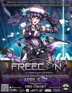 Freecon Animation Characters FSU Student Organization
