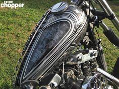 interesting gas tank of chopperfest show in Ventura, CA.