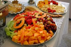 Fruit and Cheese Station