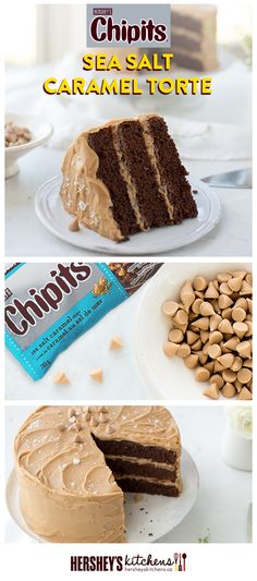Get creative with this CHIPITS Sea Salt Caramel Torte. This easy recipe is made with HERSHEY'S Cocoa and CHIPITS Sea Salt Caramel Chips. We promise it's a tasty treat.