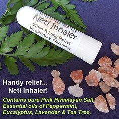 Neti Inhaler Sinus Lung Relief Himalayan Salt Air Respiratory Ions Aromatherapy for sale online Himalayan Salt Benefits, Himalayan Pink Salt, Natural Essential Oils, Young Living Essential Oils, Selena, Clear Lungs, Natural Beauty Remedies, Lavender Tea, Pure Oils