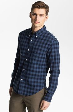 Band Of Outsiders Band Of Outsiders Navy Check Sport Shirt in Blue for Men (navy blue check) - Lyst