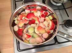 I always end up with loads of apple peels after making any kind of crumble or pie, this is a nice easy recipe to make use of them :) by Callum And Emma. Apple Peel Recipe, Apple Recipes, Apple Cake, Nut Free, Healthy Drinks, Fruit Salad, Food To Make, Watermelon, Easy Meals
