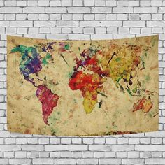 Balck and white world map tapestry wall hanging gray global map vintage retro world map tapestry wall hanging earth map wall gumiabroncs Gallery