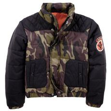 Guess - Camouflage padded jacket with a zip hood - 52640