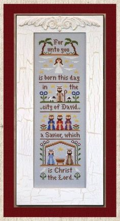 Nativity is the title of this cross stitch pattern from Country Cottage Needleworks that is stitched with DMC threads.