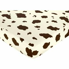 Sweet Jojo Designs Wild West Cowboy Crib Sheet - Cow Print