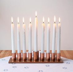 How To: DIY Modern Copper Menorah #DIY #menorah #hanukkah