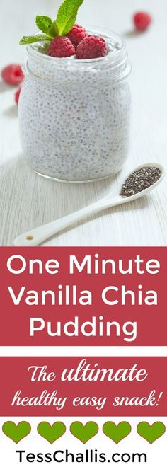 2 cups almond milk, unsweetened (plain or vanilla) 2 teaspoons vanilla extract 1/3 cup chia seeds, preferably black (the darker the seeds, the more nutrients!) 3 tablespoons maple syrup Optional: Fresh berries of your choice