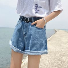 Princessy - Denim Shorts #denim #shorts #flashdeal