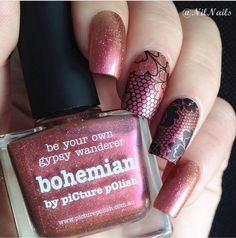 piCture pOlish = Gypsy Lace 'Bohemian' nails by Nil Nails  www.picturepolish.com.au