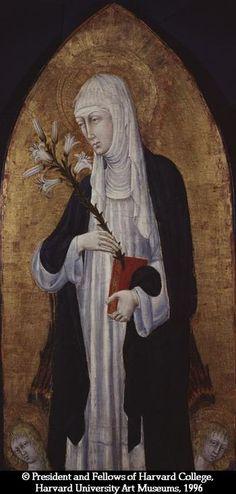 Giovanni di Paolo - Santa Caterina da Siena - tempera e oro su tavola - Fogg Art Museum, Cambridge