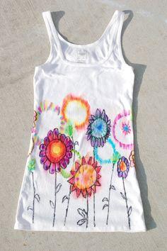 Sommerferien-Design- Idee für grössere Mädels! Jedes Shirt ein Unikat, einfach lässig!