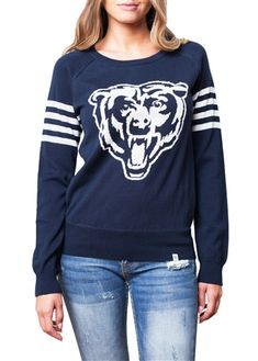 Love the varsity look of this Chicago Bears sweater!
