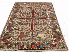 Animal persian rug