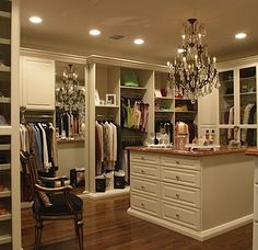 Master closet. Room for a chair and center island