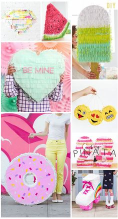 Flamingos + Fringe Blog Friday Faves - DIY Piñatas