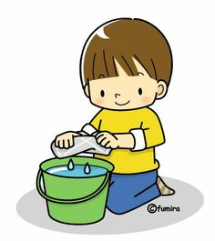 C is for Cleaning Pictures To Draw, Cute Pictures, Daily Schedule Preschool, Play School Activities, School Posters, Cute Clipart, Cartoon Kids, Coloring For Kids, Pre School